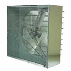 TPI CBT 3-Phase Standard Cabinet Exhaust Fan With Shutter, 230/460 VAC, 3.8 A, 1.9 A, 48 in, 1 hp, Domestic