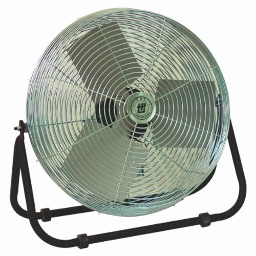 TPI F24TE 1-Phase Standard Workstation Floor Fan, 24 in Blade, 3600/5200/5850 cfm, 120 VAC, 2.4 A