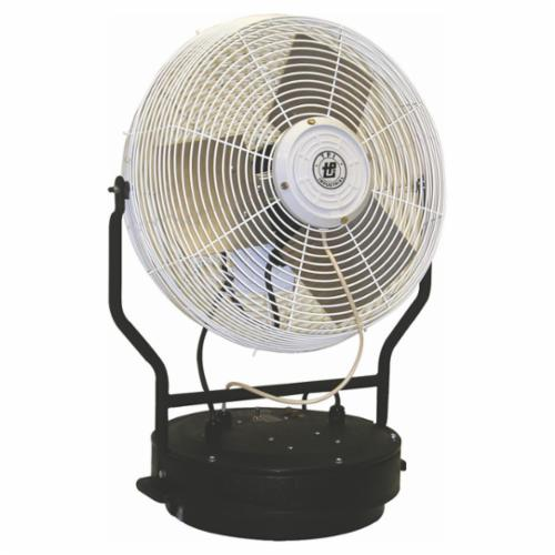 TPI PM18FO 1-Phase Portable Self-Contained Power Misting Fan Head, 18 in Blade, 5750 cfm, 120 VAC, 2.2 A, Domestic