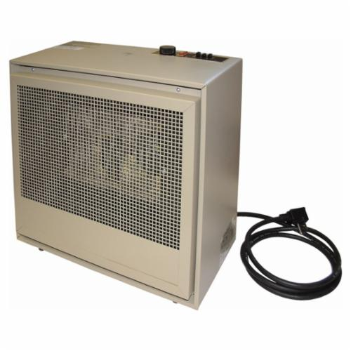 TPI H474TMC 474 1-Phase Dual Heat Fan Forced Electric Portable Heater, 13106 Btu/hr, 240 VAC, 16 A, 8 A, 50/60 Hz, 2000/4000 W
