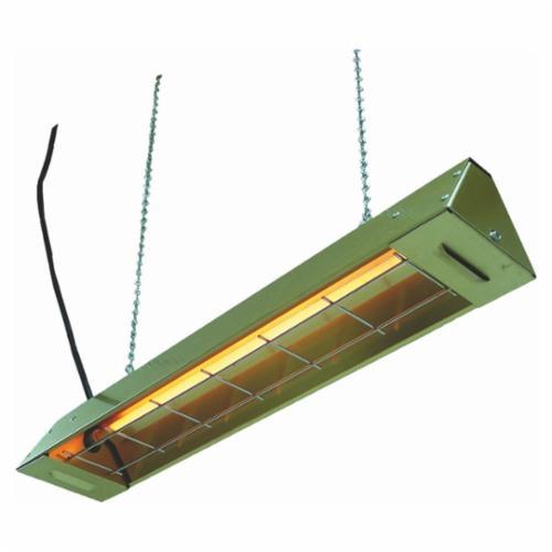 TPI FFH 1-Phase Electric Utility Infrared Heater, 1877 Btu/hr, 120 VAC, 5 A, 550 W