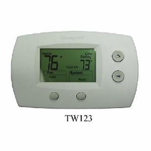 TPI TW123 Low Voltage Thermostat, Heat/Cool Thermostat, 40 to 90 deg F Heat, 50 to 99 deg F Cool Control