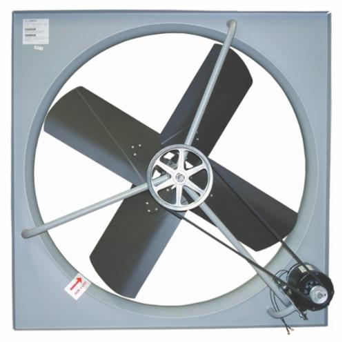 TPI CE Series 1-Phase Belt Drive Standard Exhaust Fan, 24 in Dia Blade, 115 VAC, 3270 cfm, 28 in W, Domestic