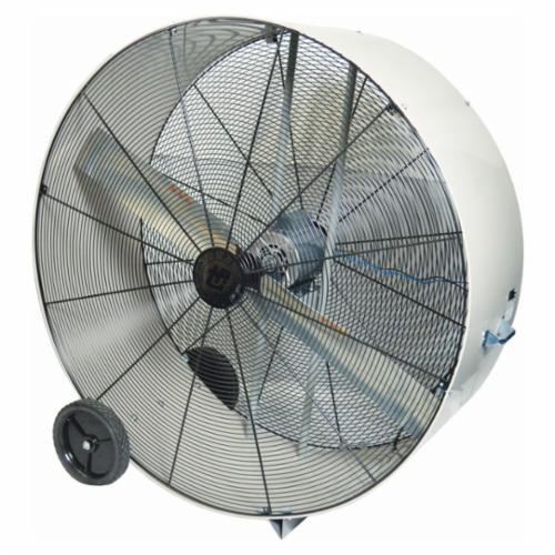 TPI PB48DOP 1-Phase Direct Drive Enclosed Standard Portable Blower, 120 VAC, 3/4 hp, 17300 cfm, 48 in, Steel Propeller, Domestic