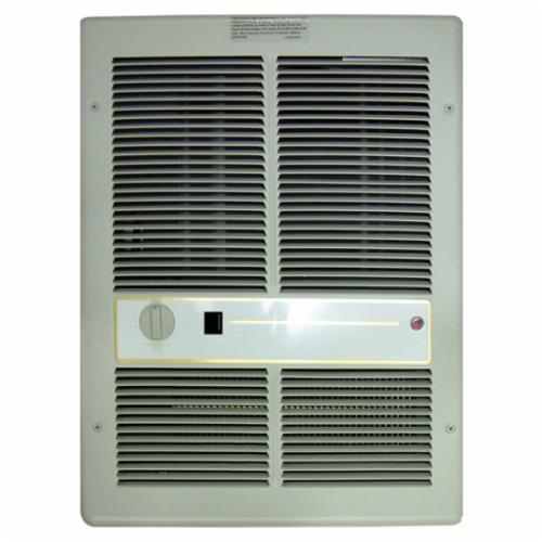 TPI HF3315TSRP 3310 Fan Forced Electric Wall Mount Heater With Single Pole Thermostat, 10240/5120 Btu, 208/240 VAC, 12.5/10.8 A, 3000/2250 W