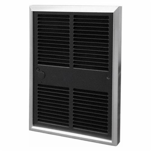 TPI G3052T2DWB 3000 1-Phase Fan Forced Midsized Standard Wall Heater With In-Built Double Pole Tamperproof Thermostat, 6826 Btu/hr, 277 VAC, 7.2 A, 2000 W