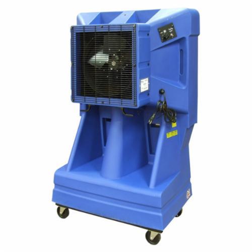 TPI EVAP163 Portable Standard Evaporative Cooler, 900 sq-ft Coverage, 2500/3500/3900 cfm, 42 gal Tank, Domestic