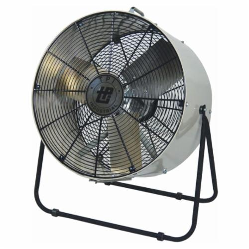 TPI MB30DF 1-Phase Enclosed Standard Mini Blower, 120 VAC, 1/4 hp, 6000/7800 cfm, 30 in, Aluminum Propeller, Domestic