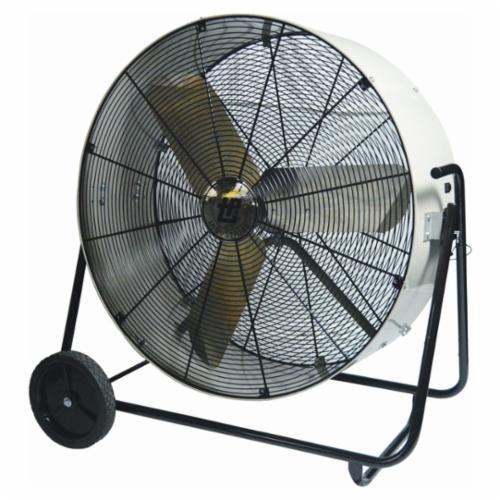 TPI PBS36D 1-Phase Direct Drive Enclosed Standard Portable Blower, 120 VAC, 1/3 hp, 9000/12500 cfm, 36 in, Aluminum Propeller, Domestic