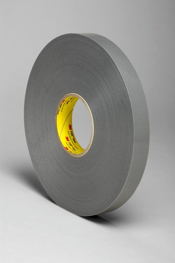 3M™ VHB™ 4943F Pressure Sensitive Double Sided Bonding Tape, 36 yd L x 3/4 in W, 0.045 in THK, Low Temperature Acrylic Adhesive, Acrylic Foam Backing, Gray