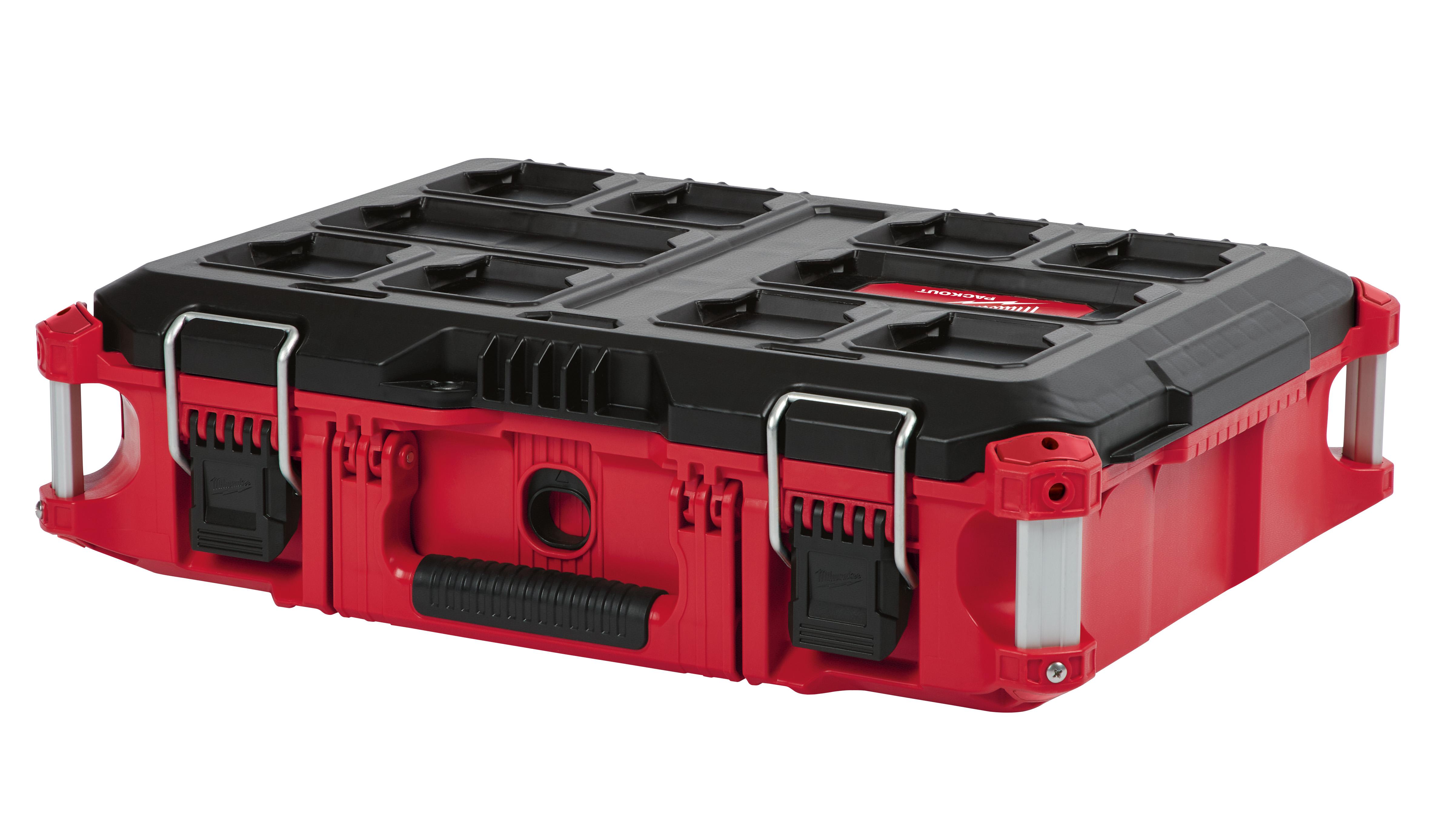 Milwaukee® PACKOUT™ 48-22-8424 Waterproof Flip Latch Tool Box, 6.6 in H x 16.1 in W x 22.1 in D
