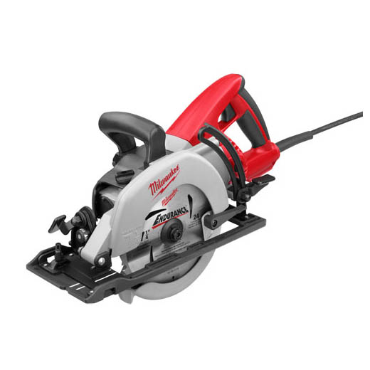 Milwaukee® 6477-20 Worm Drive Circular Saw, 7-1/4 in Dia Blade, 5/8 in Arbor/Shank, 1-25/32 in at 45 deg, 1-9/16 in at 50 deg, 2-7/16 in at 90 deg Cutting, Left Blade Side