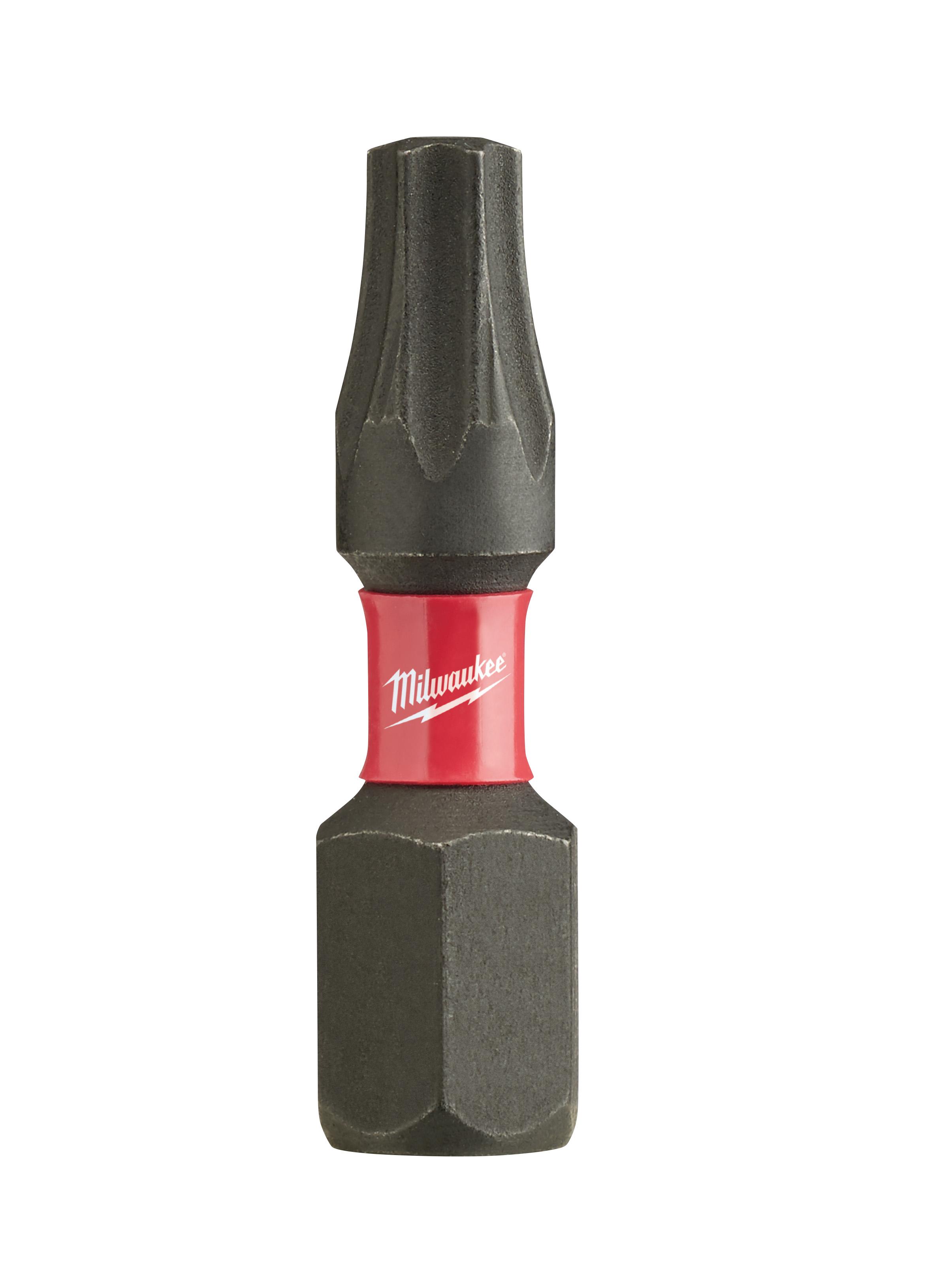 Milwaukee® SHOCKWAVE™ 48-32-4135 Impact Insert Bit, T20 Torx® Point, 1 in OAL, 1/4 in, Custom Alloy76™ Steel