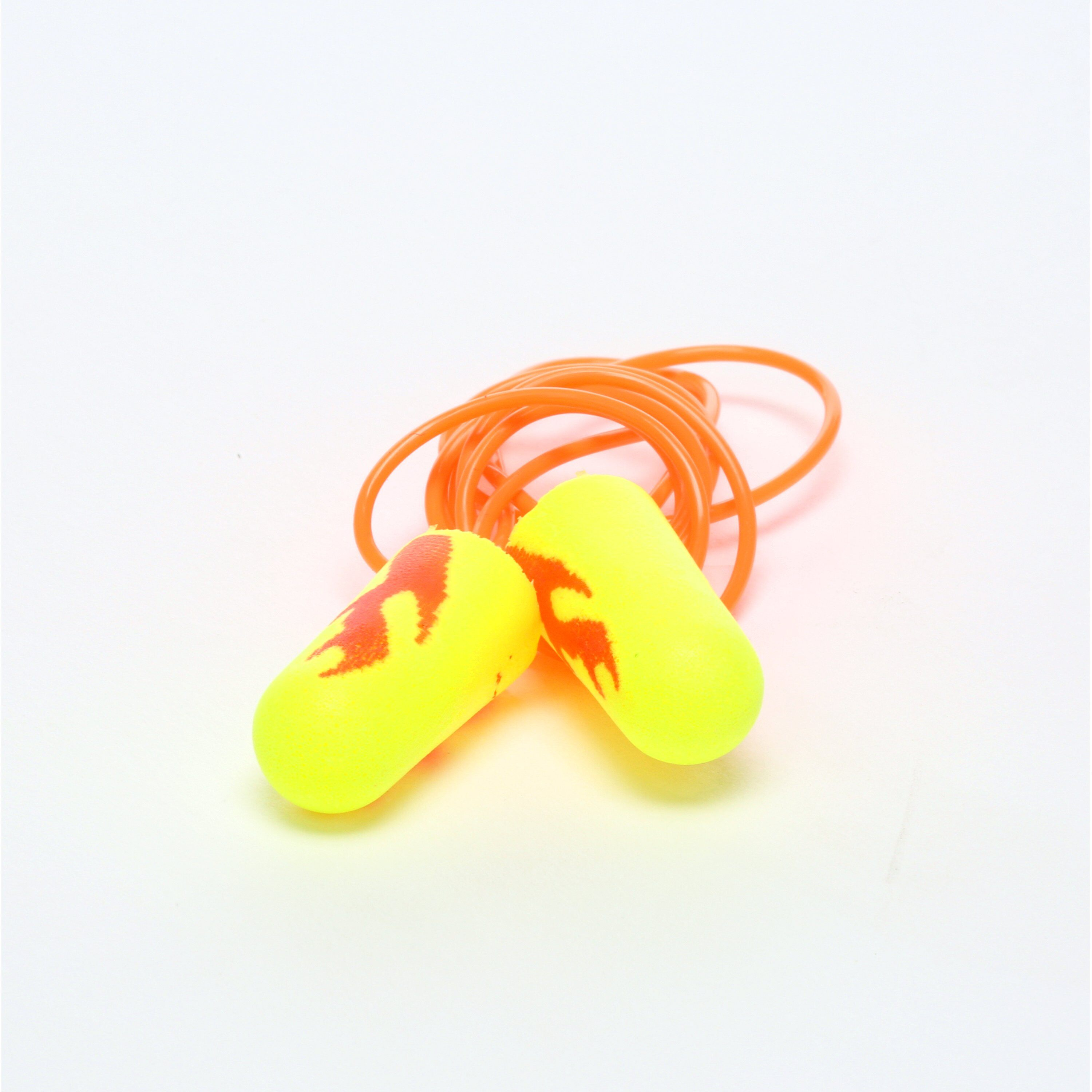 E-A-Rsoft™ Yellow Neon Blasts™ 311-1252 Corded Ear Plug, 33 dB Noise Reduction, Tapered Shape, ANSI S3.19-1974, Disposable