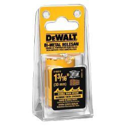 DeWALT® D180019 Hole Saw, 1-3/16 in Dia, 1-7/16 in D Cutting, High Speed Steel Cutting Edge