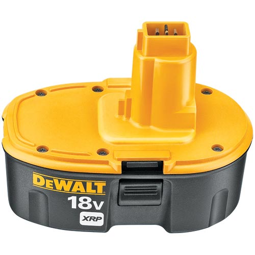 Black+Decker® XRP™ DC9096 Rechargeable Cordless Battery Pack With DeWALT® 18 V Tools and Accessories, 2.4 Ah NiCd Battery, 18 VDC Charge, For Use With DeWALT® 18 V Tools and Accessories