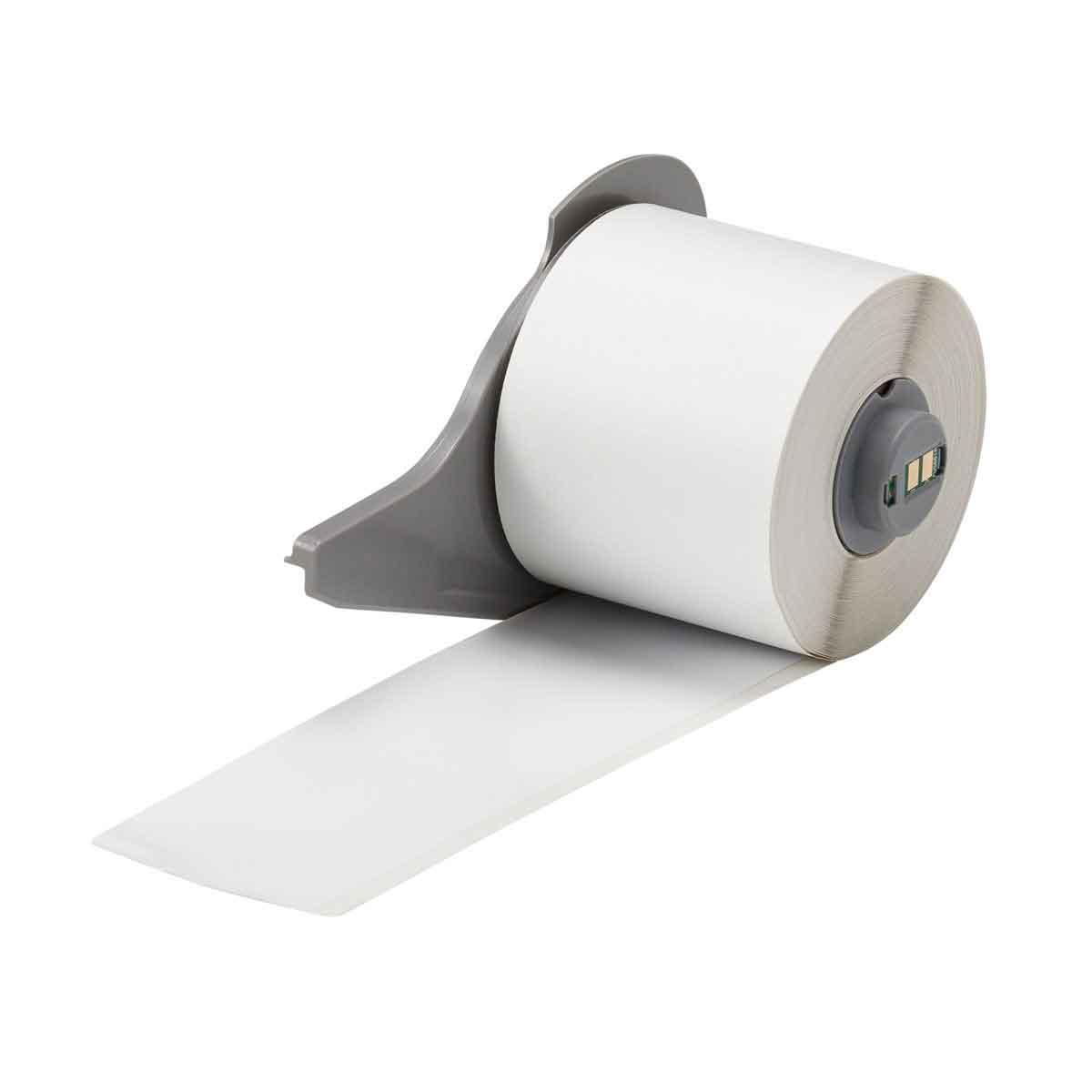 Brady® M71C-2000-595-WT Blank Thermal Transfer Tape, 50 ft L x 2 in W, White, B-595 Vinyl, Permanent Acrylic Adhesive, -40 to 180 deg F