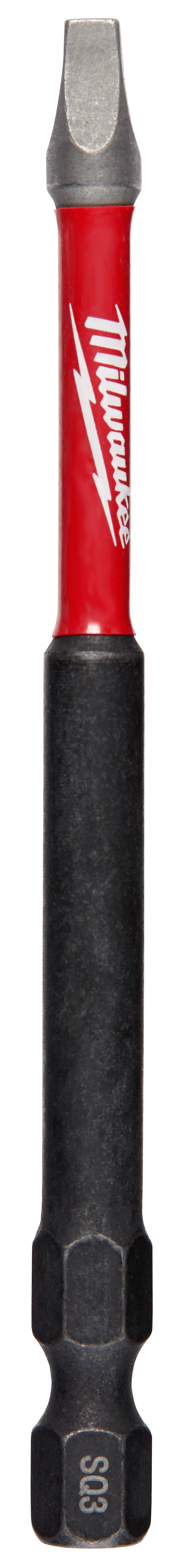 Milwaukee® SHOCKWAVE™ 48-32-4796 Impact Power Bit, #3 Square Recessed Point, 3-1/2 in OAL, 1/4 in, Steel