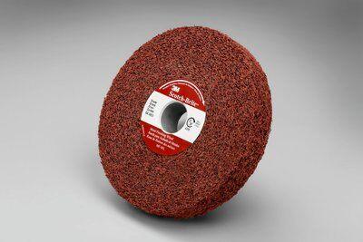 3M™ 01862 Convolute Metal Finishing Wheel, 6 in Dia Wheel, 1 in Center Hole, 1 in W Face, Medium Grade, Aluminum Oxide Abrasive