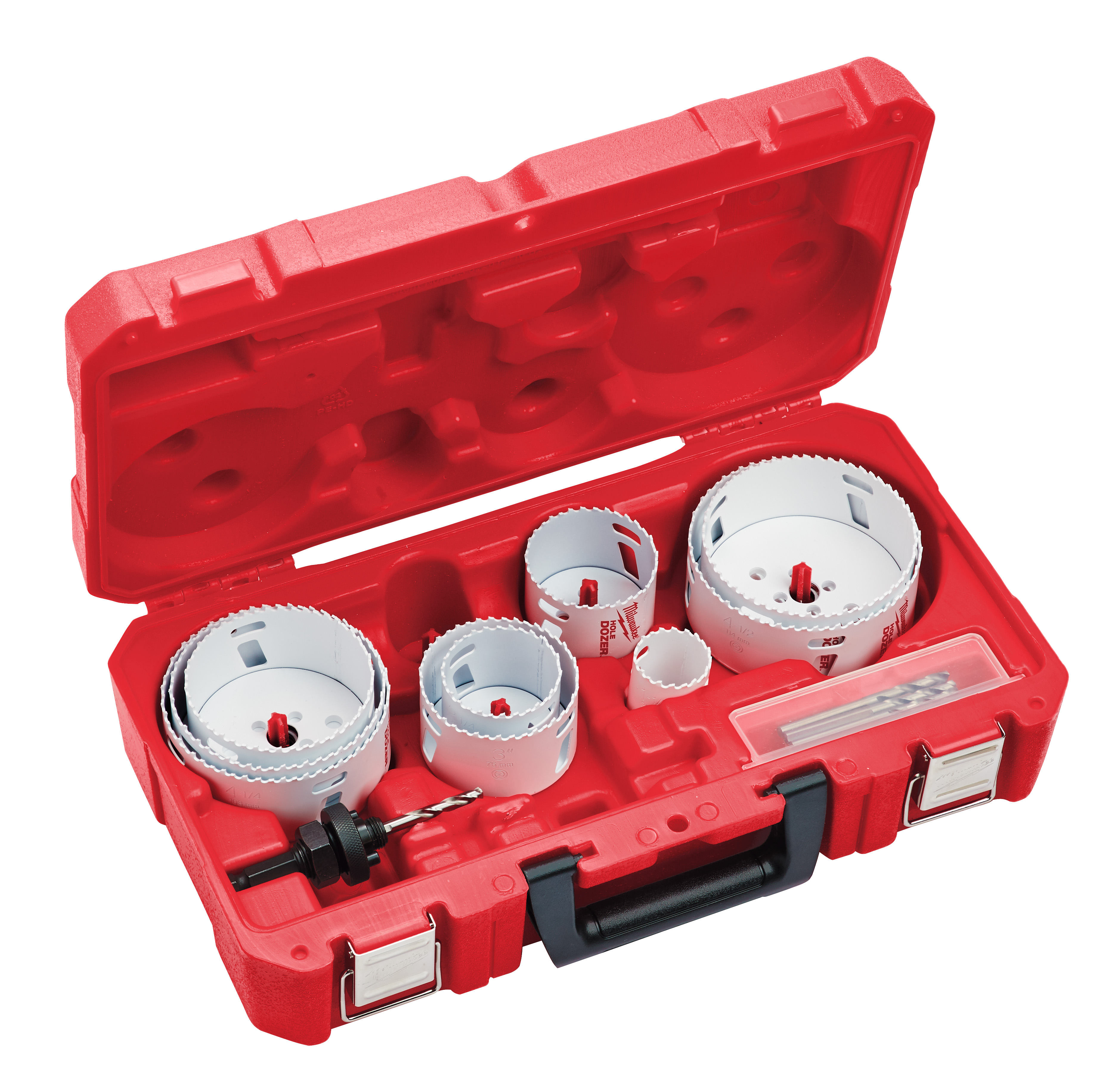 Milwaukee® 49-22-4142 Hole Dozer™ Plumber's Large Diameter Hole Saw Kit, 12 Pieces, For Use With 49-56-7210, 49-56-7240, 49-56-7250 and 49-56-9100 Quick-Change Arbor, Bi-Metal/HSS