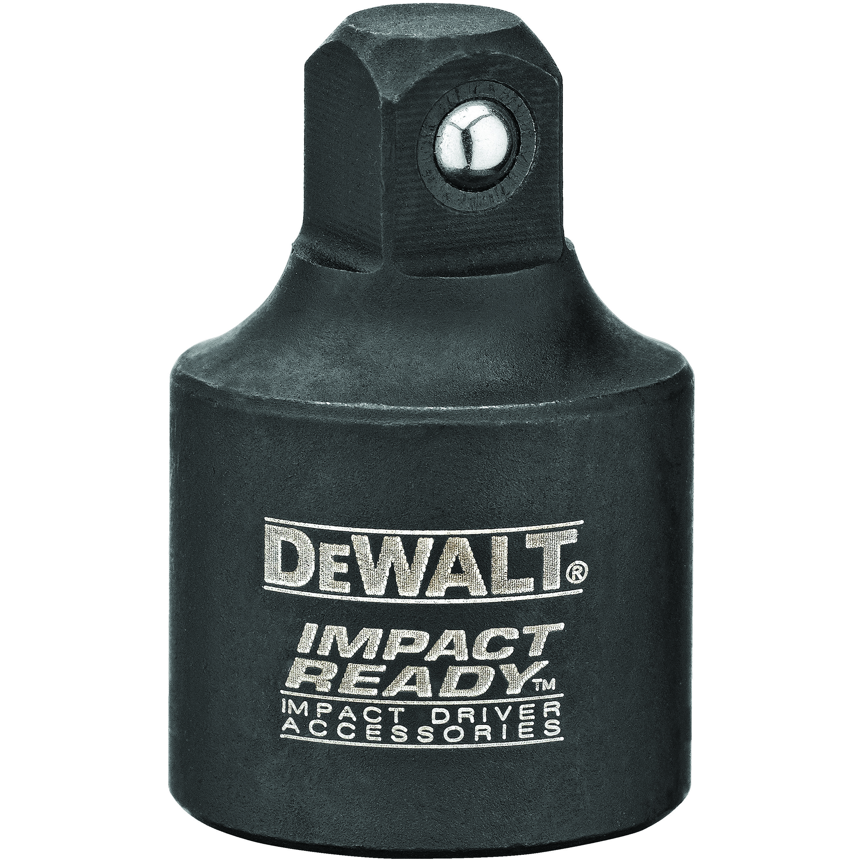 DeWALT® IMPACT READY® DW2299 Reducer Socket Adapter, Black Oxide, Square Drive, 1/2 in Male Drive, 3/8 in Female Drive, Male x Female Adapter, Steel