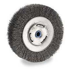 DeWALT® HP™ DW4904 Medium Face Heavy Duty Bench Grinder Brush, 6 in Dia Brush, 3/4 in W Face, 0.014 in Dia Crimped Filament/Wire, 5/8 to 1/2 in Arbor Hole