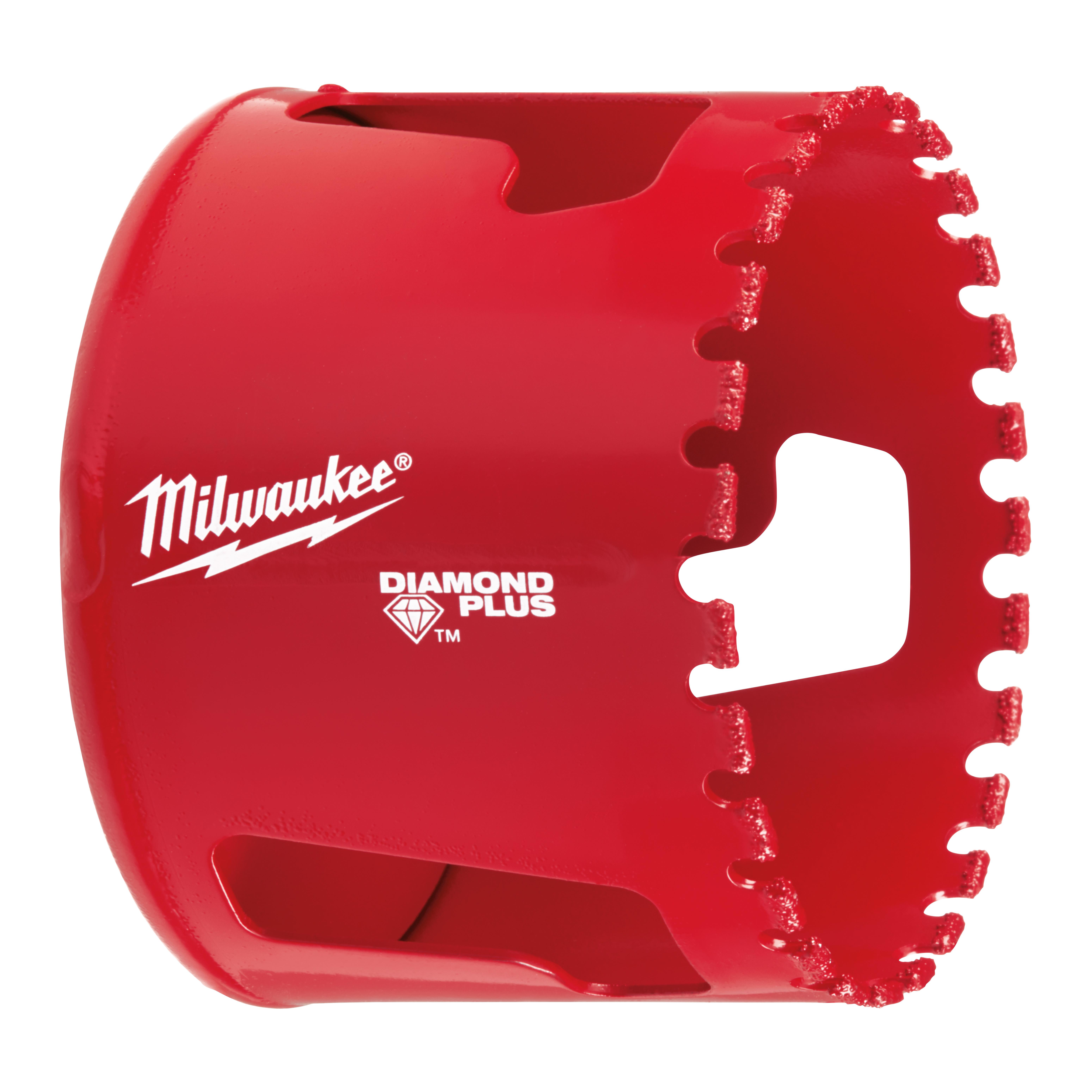 Milwaukee® Diamond Plus® Hole Dozer 49-56-5664 Diamond Grit Threaded Diamond Grit Threaded Hole Saw, 2-11/16 in Dia, 3/8 in Arbor