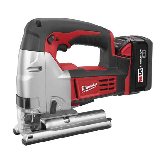 Milwaukee® 2645-22 M18™ Cordless Jig Saw Kit, 18 VDC, For Blade Shank: T-Shank, 10-1/2 in OAL, Lithium-Ion Battery