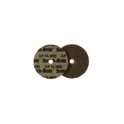 3M™ 048011-03728 CP-UW Cut and Polish Unitized Wheel, 3 in Dia Wheel, 1/4 in Center Hole, 1/4 in W Face, Medium Grade, Aluminum Oxide Abrasive