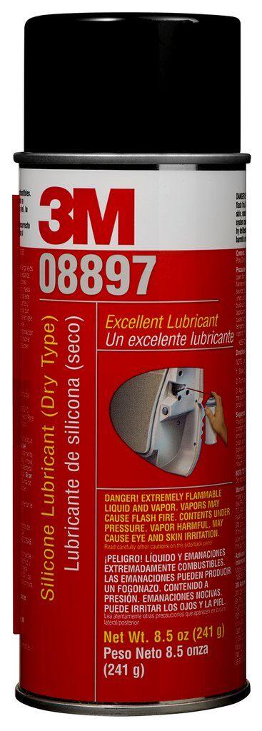 3M™ 051135-08897 Dry Version Silicone Lubricant, 8.5 oz Aerosol Can, Liquid Form, Transparent, 122 deg F