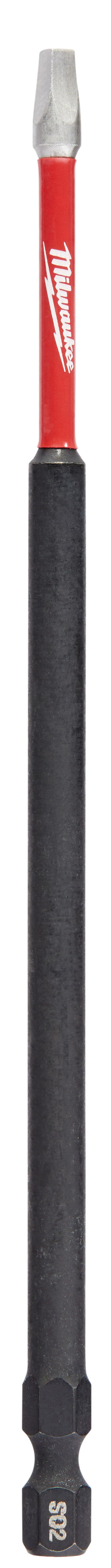 Milwaukee® SHOCKWAVE™ 48-32-4815 Impact Power Bit, #2 Square Recessed Point, 6 in OAL, 1/4 in, Steel
