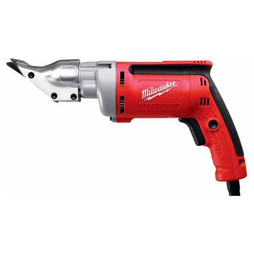 Milwaukee® 6852-20 Double Insulated Corded Electric Shear, 18 ga Cold Rolled Steel, 22 ga Stainless Steel Cutting, 0 to 2500 spm, 120 VAC, 12-1/4 in OAL