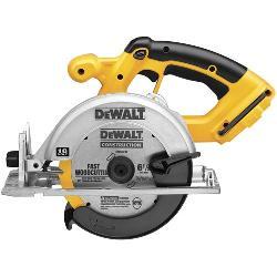 DeWALT® DC390B Cordless Circular Saw Kit, 6-1/2 in Dia Blade, 5/8 in Arbor/Shank, 18 VDC, 1-5/8 in at 45 deg, 2-1/4 in at 90 deg D Cutting, NiCd Battery, Left Blade Side