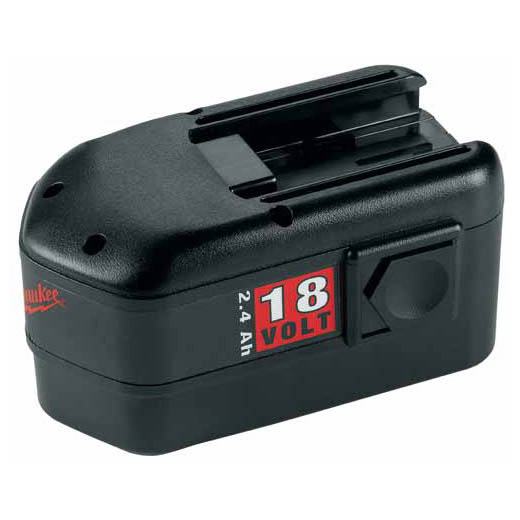 Milwaukee® 48-11-2230 V18™ Rechargeable Slide on Style Cordless Battery Pack, 2.4 Ah Ni-Cd Battery, 18 VDC Charge, For Use With Milwaukee® V18™ and 18 VDC Ni-Cd Cordless Power Tool