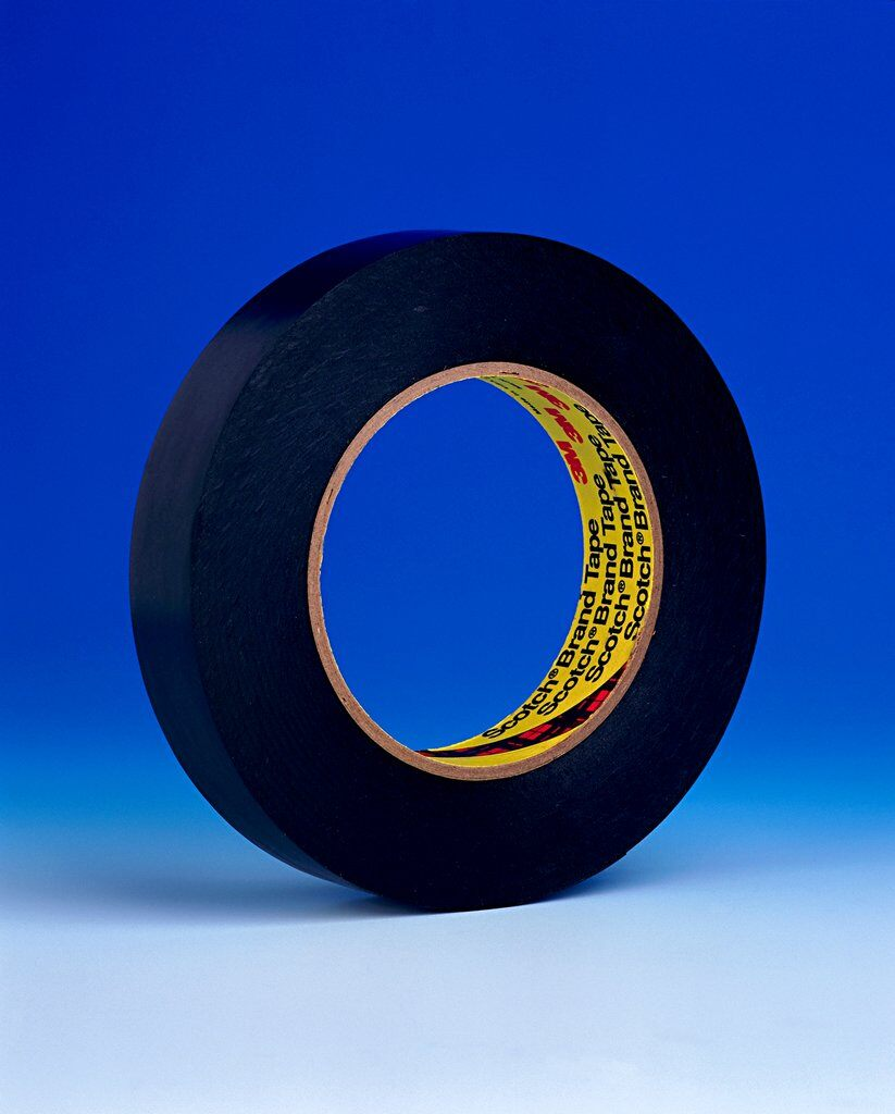 3M™ 472 Heavy Duty Vinyl Tape, 36 yd L x 2 in W, 10.4 mil THK, Rubber Adhesive, Vinyl Backing, Black