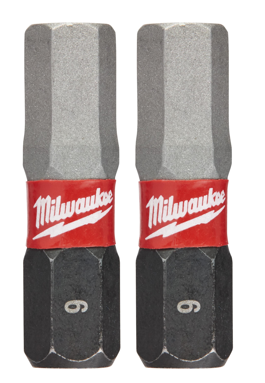 Milwaukee® SHOCKWAVE™ 48-32-4728 Impact Insert Bit, 6 mm Hex Point, 1 in OAL, Custom Alloy76™ Steel