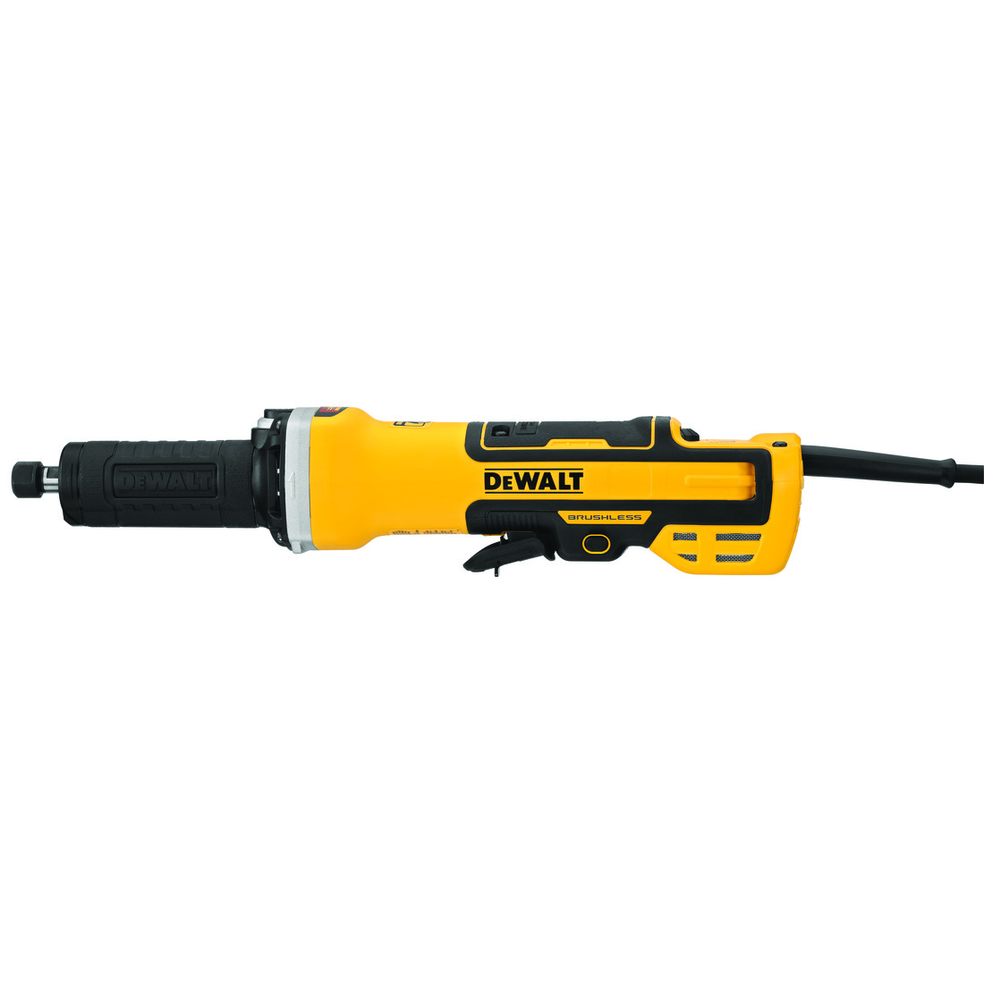 DeWALT® DWE4997VS Brushless Corded Die Grinder With Lock-On Switch, 2 in Dia Wheel, 7500 to 25000 rpm Speed, 120 VAC, Paddle Switch