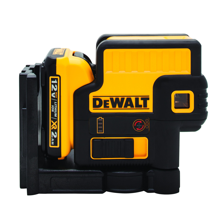 DeWALT® DW085LR Cordless Spot Red Laser, 100 ft Measuring, +/-1/8 in Accuracy, 12 VDC