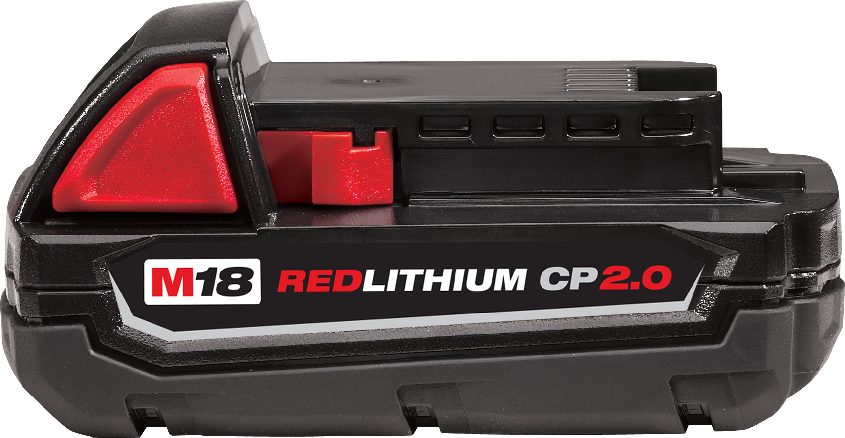 Milwaukee® M18™ REDLITHIUM™ 48-11-1820 Compact Rechargeable Cordless Battery Pack, 2 Ah Lithium-Ion Battery, 18 VDC Charge, For Use With Milwaukee® M18™ Cordless Power Tool