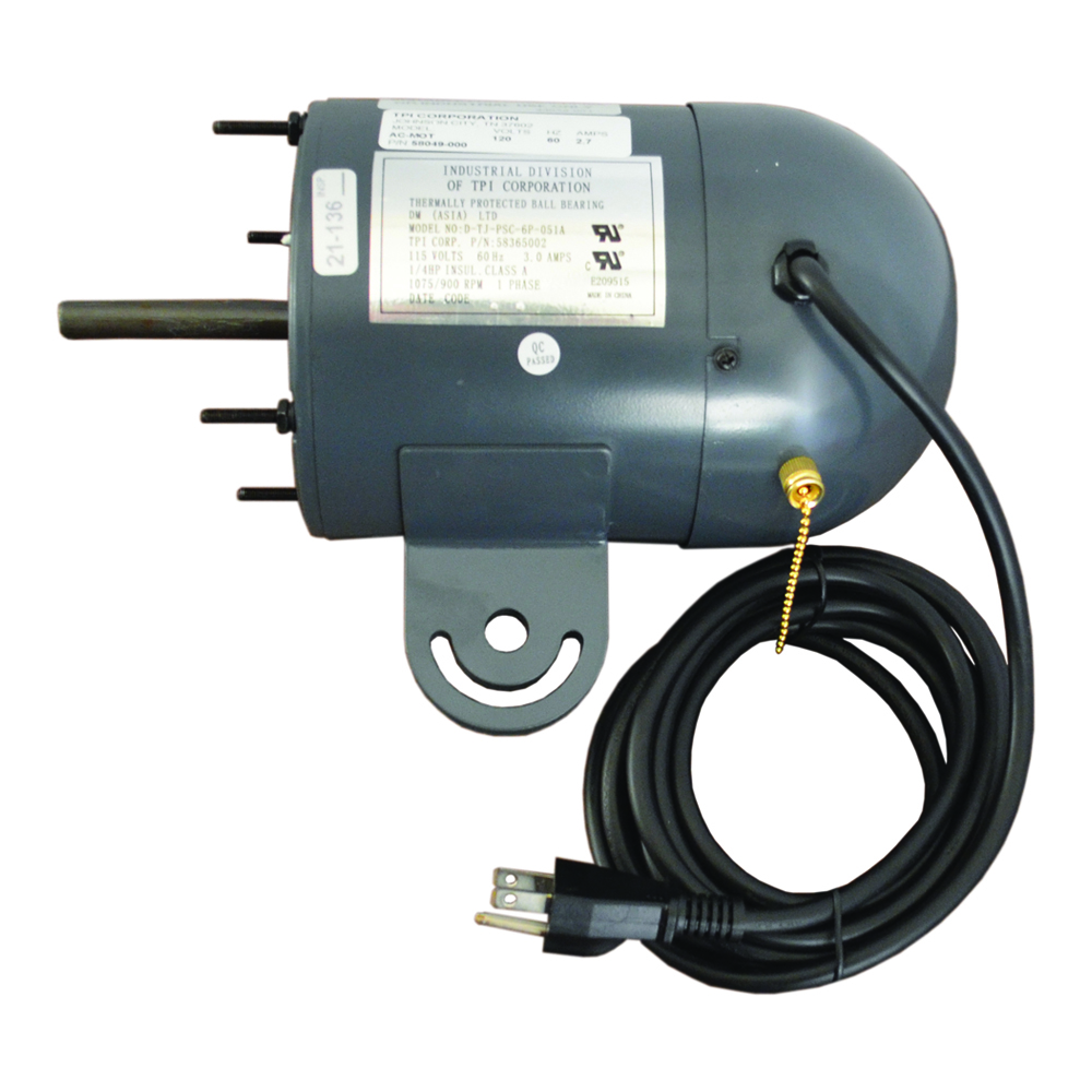 TPI ACMOTO 1-Phase Oscillating Fan Motor, 120 VAC, 1/4 hp, 1/2 in Dia, Domestic