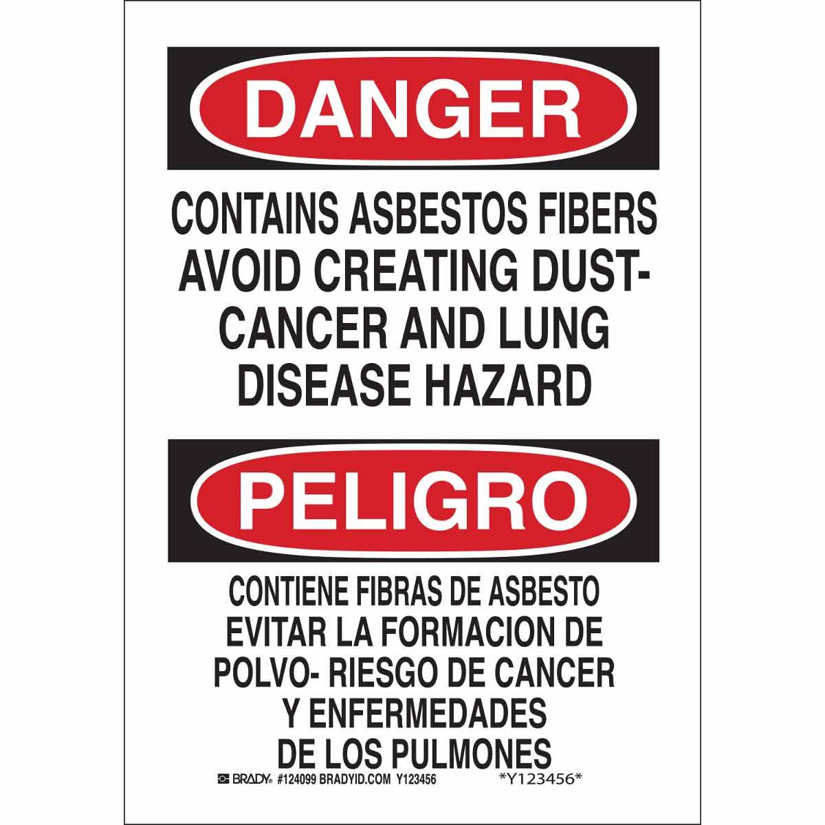 Brady® 38767 Rectangular Safety Sign, Text, B-401 Polystyrene, Corner Holes Mount, 14 in H x 10 in W, English/Spanish