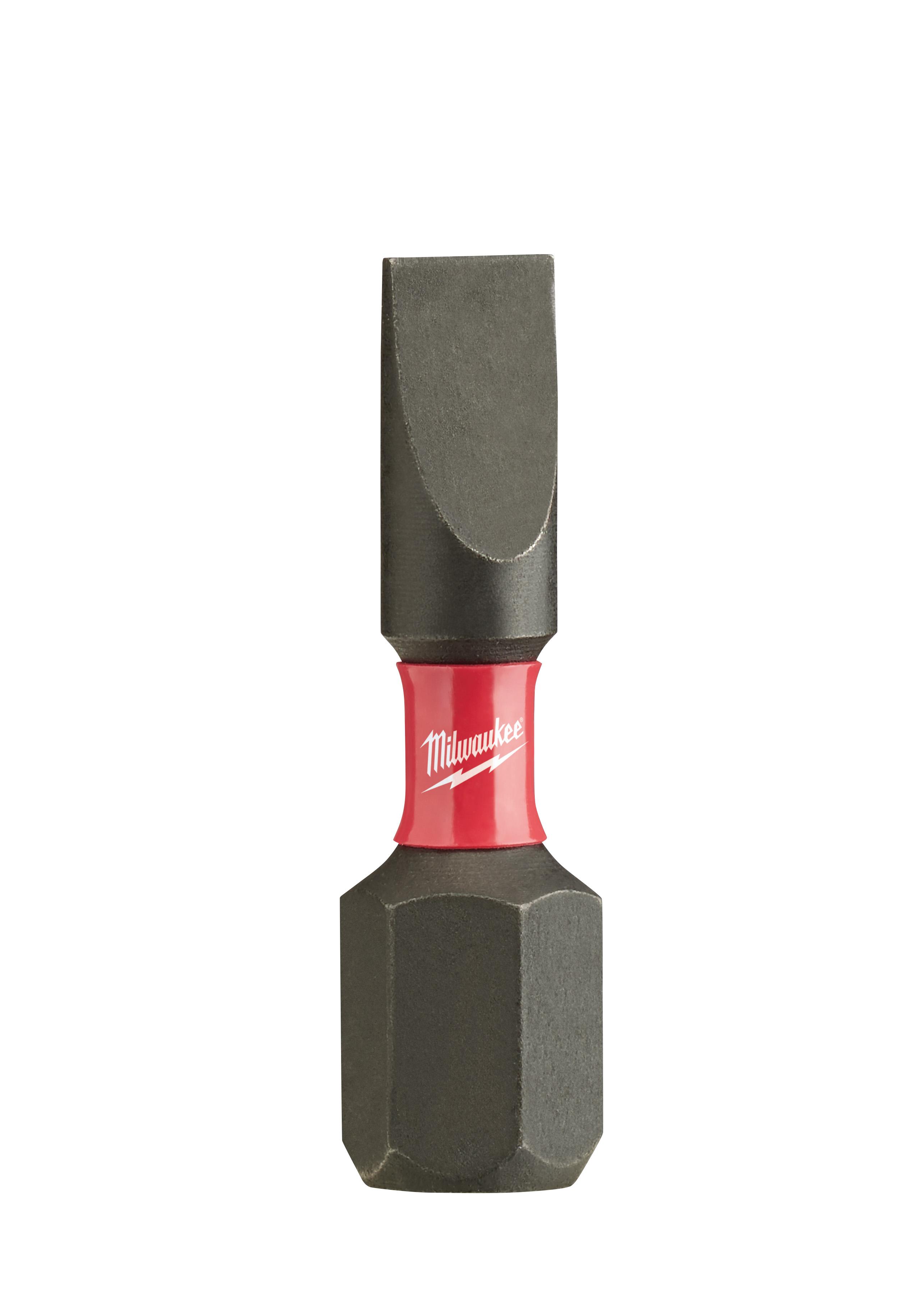 Milwaukee® SHOCKWAVE™ 48-32-4717 Impact Insert Bit, 3/16 in Slotted Point, 1 in OAL, Custom Alloy76™ Steel