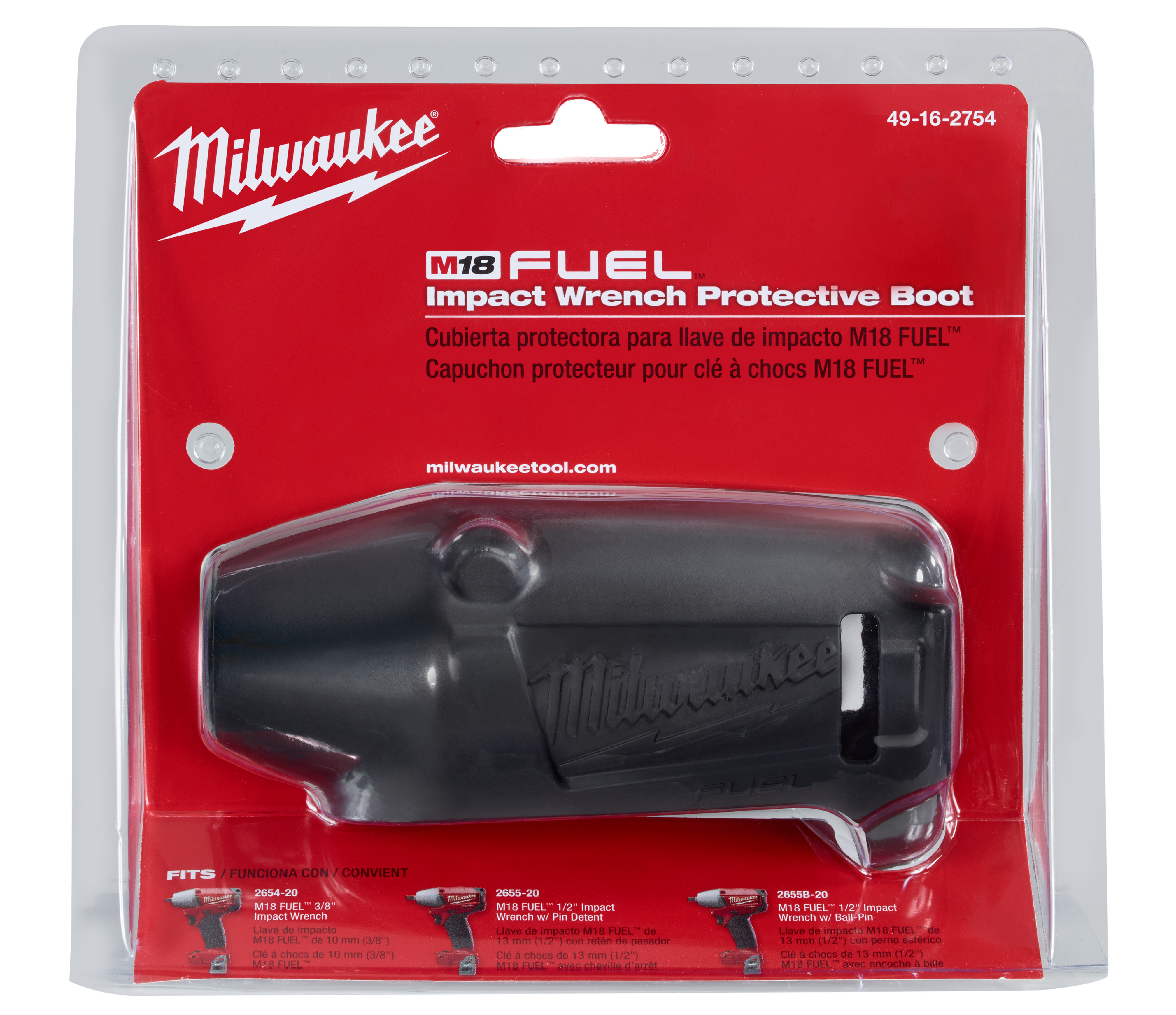 Milwaukee® M18™ FUEL™ 49-16-2754 CPIW Tool Cover, For Use With Milwaukee® M18™ FUEL™ 2654-20, 2655-20 and 2655B-20 Compact Impact Wrench