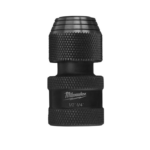 Milwaukee® SHOCKWAVE™ 48-03-4410 Heavy Duty Impact Duty Socket Adapter, Hex/Square Drive, 1/2 in Male Drive, 1/4 in Female Drive, Female x Male Adapter, Proprietary Steel