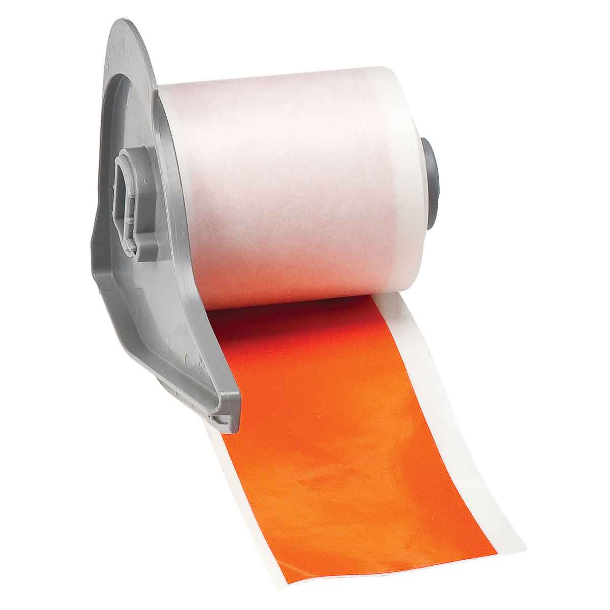 Brady® M71C-2000-595-OR Blank Thermal Transfer Tape, 50 ft L x 2 in W, Orange, B-595 Vinyl, Permanent Acrylic Adhesive, -40 to 180 deg F