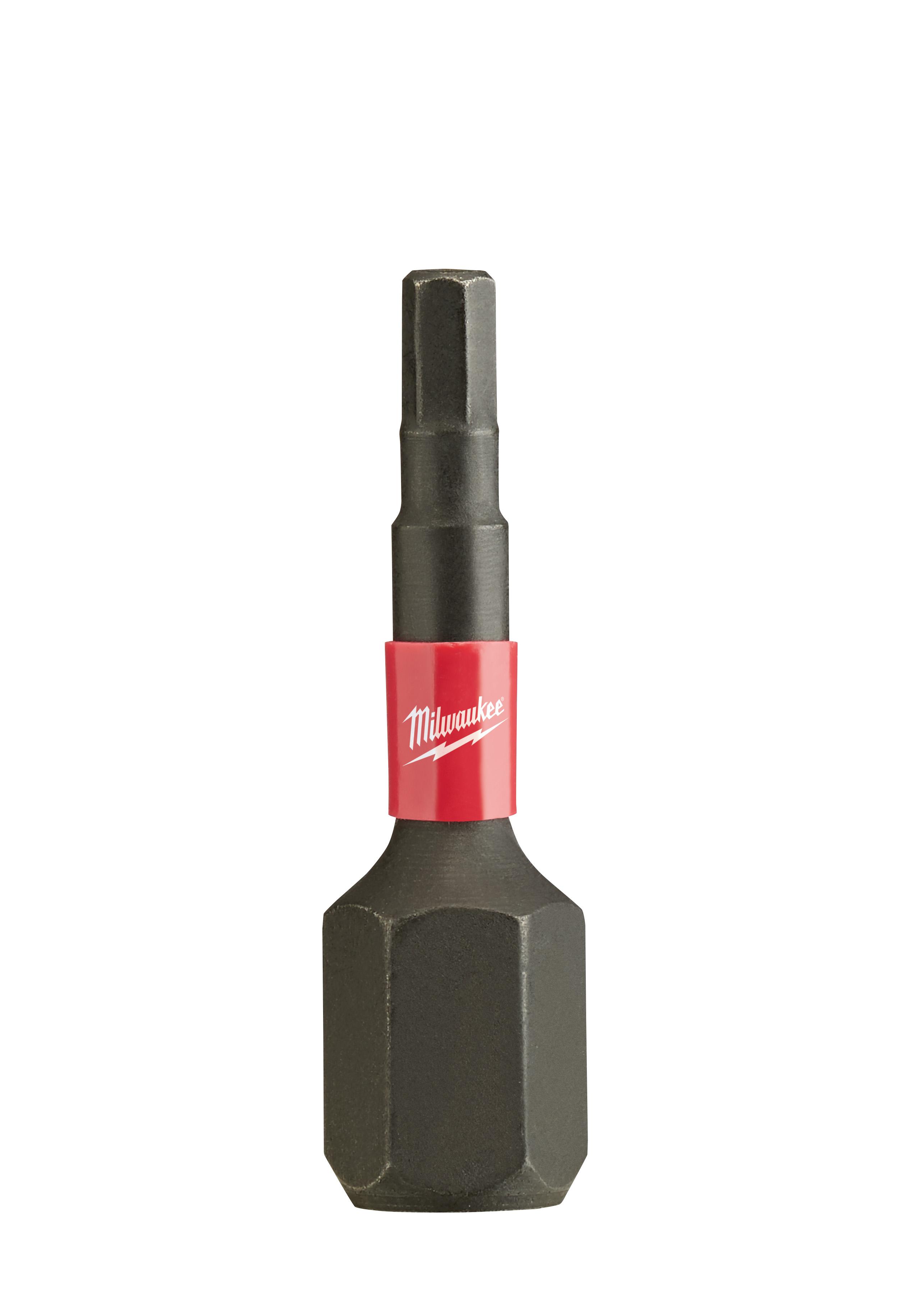 Milwaukee® SHOCKWAVE™ 48-32-4724 Impact Insert Bit, 2.5 mm Hex Point, 1 in OAL, Custom Alloy76™ Steel