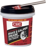 CRC® 05353 Brake Caliper Non-Flammable Synthetic Grease, 12 oz Tub, Semi-Solid Grease Form, Dark Gray, -30 to 600 deg F