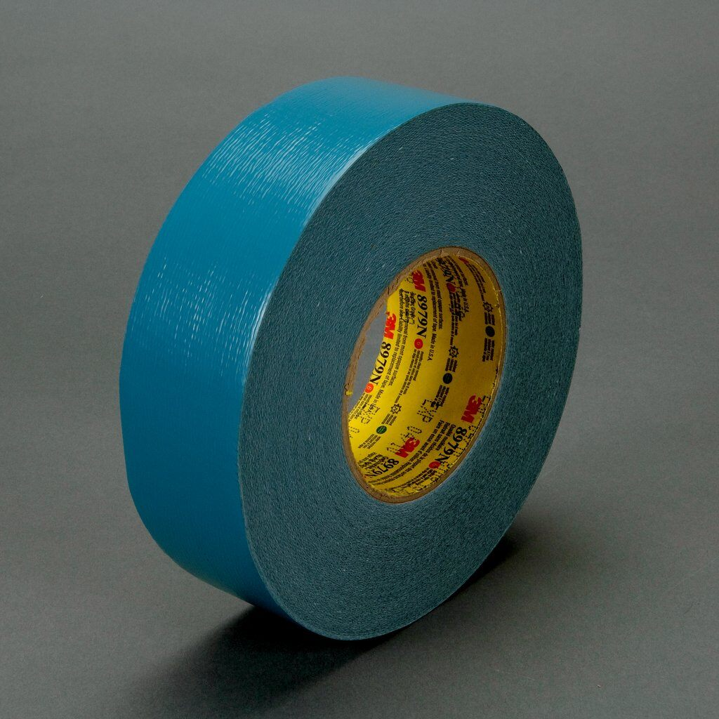 3M™ 8979N-SlateBlue-48mm Performance Plus Nuclear-Grade Duct Tape, 54.8 m L x 48 mm W, 12.1 mil THK, Rubber Adhesive, Polyethylene Over Cloth Scrim Backing, Blue