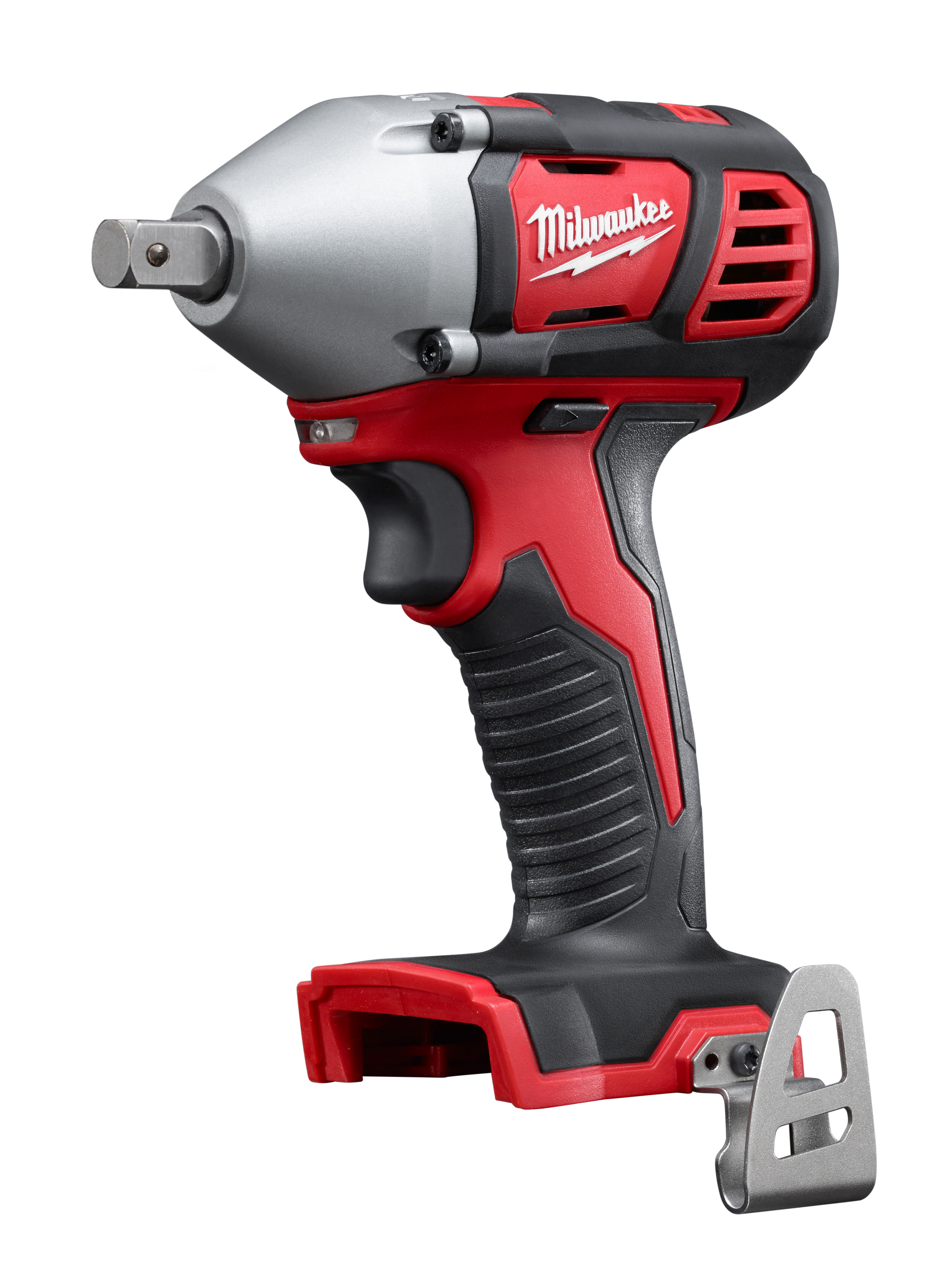 Milwaukee® M18™ 2659-20 Compact Cordless Impact Wrench With Pin Detent, 1/2 in Straight Drive, 3350 bpm, 183 ft-lb Torque, 18 VDC, 6 in OAL