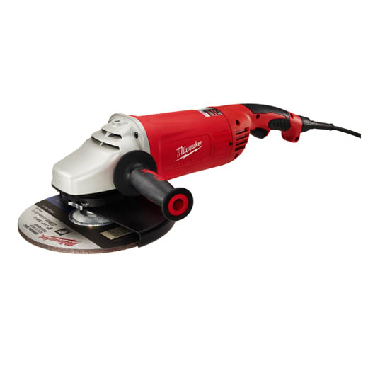 Milwaukee® ROTO-LOK® 6089-31 Double Insulated Large Angle Grinder, 7 in, 9 in Dia Wheel, 5/8-11 UNC Arbor/Shank, 120 VAC, Black/Gray/Red